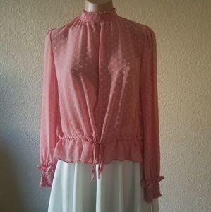 Divided pink turtleneck long Sleeve top
